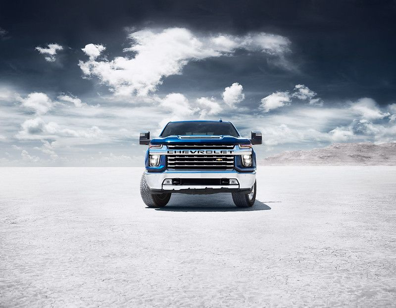 A blue 2020 Chevrolet Silverado 2500HD, available now at Sherman Chevrolet in Sherman, TX